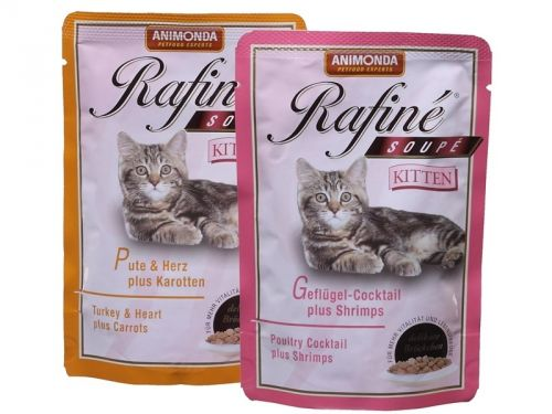 Animonda Rafiné Soupé Kitten krůtí, srdce a karotka 100 g