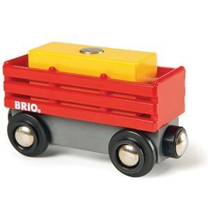 Brio Červený vagón se žlutým nákladem 33565