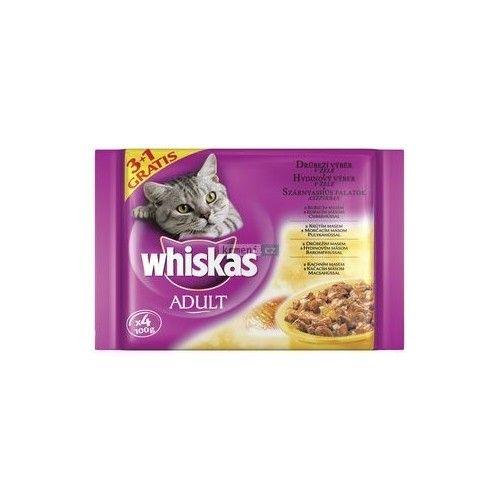 Whiskas Adult drůbeží výběr v želé 4x100 g