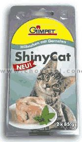 Gimpet Shiny Cat Kuře a Krevety 2x85 g