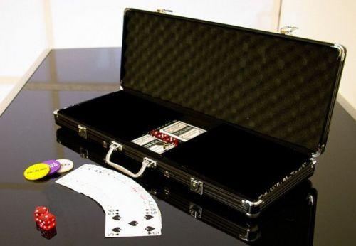 OEM Hliníkový kufr na 500 ks žetonů s příslušenstvím