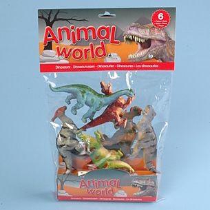 JOHNTOY Animal World dinosauři 6 kusů