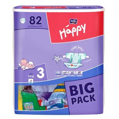 Bella Happy Midi vel. 3 dětské pleny (5-9 kg) 82 kusů