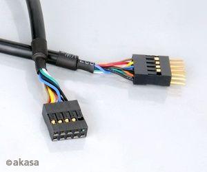 AKASA - USB kabel - 40 cm