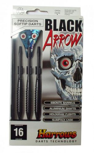 Harrows SOFT BLACK ARROW 16 g šipky