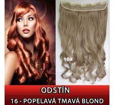 Clip in pás - lokny 55 cm - odstín 16 - popelavá tmavá blond SVĚTOVÉ ZBOŽÍ