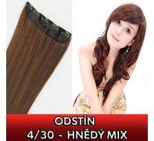 Clip in vlasy - 60 cm dlouhý pás vlasů - odstín 4/30 - hnědý mix SVĚTOVÉ ZBOŽÍ