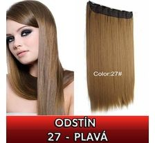 Clip in vlasy - 60 cm dlouhý pás vlasů - odstín 27 - plavá SVĚTOVÉ ZBOŽÍ