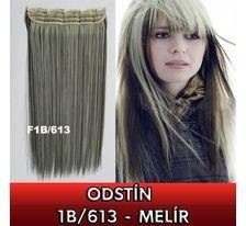 Clip in vlasy - 60 cm dlouhý pás vlasů - odstín 1B/613 - melír SVĚTOVÉ ZBOŽÍ