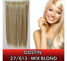 Clip in vlasy - 60 cm dlouhý pás vlasů - odstín 27/613 mix blond SVĚTOVÉ ZBOŽÍ