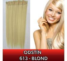 Clip in vlasy - 60 cm dlouhý pás vlasů - odstín blond 613 SVĚTOVÉ ZBOŽÍ