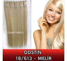 Clip in vlasy - 60 cm dlouhý pás vlasů - odstín 18/613 SVĚTOVÉ ZBOŽÍ