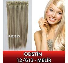 Clip in vlasy - 60 cm dlouhý pás vlasů - odstín 12/613 SVĚTOVÉ ZBOŽÍ