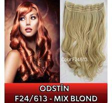 Clip in pás - lokny 55 cm - odstín F24/613 - mix blond SVĚTOVÉ ZBOŽÍ