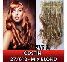 Clip in pás - lokny 55 cm - odstín 27/613 - mix blond SVĚTOVÉ ZBOŽÍ