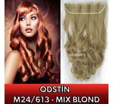 Clip in pás - lokny 55 cm - odstín M24/613 - mix blond SVĚTOVÉ ZBOŽÍ
