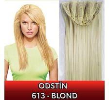 Clip in pás - Jessica 65 cm rovný - 613 - blond SVĚTOVÉ ZBOŽÍ