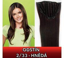 Clip in pás - Jessica 65 cm rovný - 2/33 - hnědý SVĚTOVÉ ZBOŽÍ