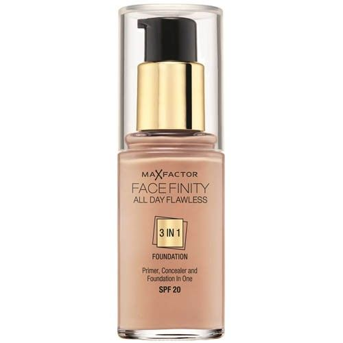 Max Factor Dlouhotrvající make-up Facefinity 3 v 1 (All Day Flawless) 30 ml 45 Warm Almond