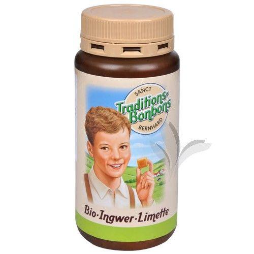 Allnature Bio Zázvorovo-limetkové bonbóny 170 g