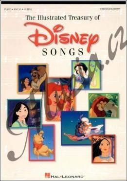 Hal Leonard Album | Illustrated Treasury Of Disney Songs (Update) | Zpěvník-noty cena od 780 Kč