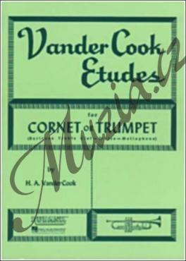 Hal Leonard VANDERCOOK HA   VANDERCOOK ETUDES TRUMPET   Noty cena od 210 Kč