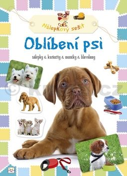Oblíbení psi Nálepkový sešit cena od 24 Kč
