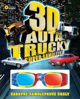 Haubová Zuzana: 3D Auta, trucky - Super samolepky cena od 54 Kč