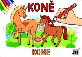 Koně - omalovánka cena od 9 Kč
