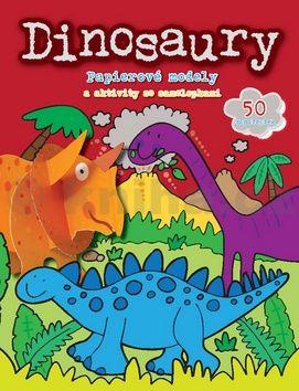 Dinosaury - Papierové modely a aktivity so samolepkami cena od 77 Kč