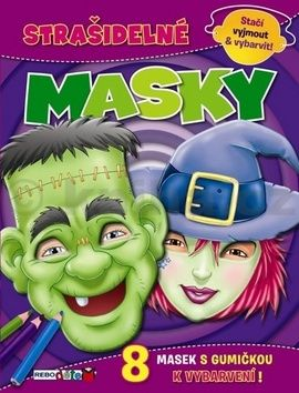 Strašidelné masky cena od 32 Kč