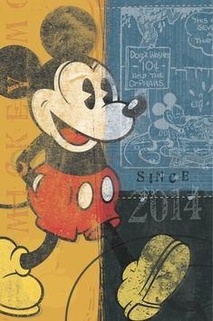 W. Disney Mickey Retro diář 2014 cena od 109 Kč