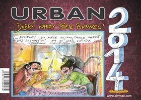 Urban ... Dobrý karty přeje Pivrnec! 2014 - stolní kalendář cena od 70 Kč