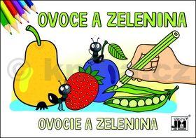 Ovoce a zelenina - omalovánka cena od 11 Kč