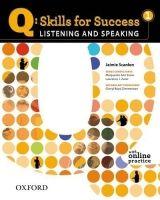 OUP ELT Q: SKILLS FOR SUCCESS 1 LISTENING & SPEAKING STUDENT´S BOOK ... cena od 442 Kč
