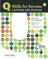 OUP ELT Q: SKILLS FOR SUCCESS 3 LISTENING & SPEAKING STUDENT´S BOOK ... cena od 422 Kč