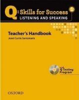 OUP ELT Q: SKILLS FOR SUCCESS 1 LISTENING & SPEAKING TEACHER´S HANDB... cena od 606 Kč