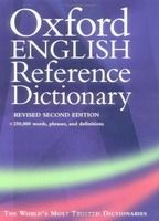 OUP References OXFORD ENGLISH REFERENCE DICTIONARY 2nd Edition - PEARSALL, ... cena od 716 Kč