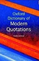 OUP References OXFORD DICTIONARY OF MODERN QUOTATIONS 3rd Edition - KNOWLES... cena od 0 Kč