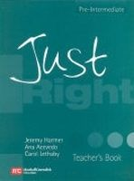 Heinle ELT JUST RIGHT PRE-INTERMEDIATE TEACHER´S BOOK - HARMER, J. cena od 400 Kč