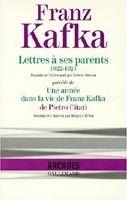 SODIS LETTRES A SES PARENTS, 1922 - 1924 - KAFKA, F. cena od 279 Kč