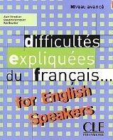 CLE international DIFFICULTES EXPLIQUEES DU FRANCAIS AVANCE - VERCOLLIER, A. cena od 500 Kč