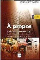 PUG A PROPOS B1-B2 CAHIER D´EXERCICES - ANDANT, Ch., CHALARON, M... cena od 325 Kč