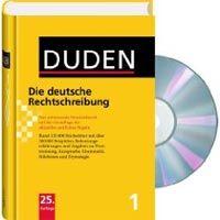 Bibliographisches Institut DUDEN 1 * DEUTSCHE RECHTSCHREIBUNG + CD-ROM 25.A - Dudenreda... cena od 714 Kč
