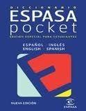 Editorial Planeta, S.A. DICCIONARIO POCKET INGLES-ESPANOL/ESPANOL INGLES cena od 363 Kč