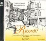 RUX DISTRIBUZIONE RICORDI? 1 Attivita + Chiavi + CD - PICCOLI, L., RANA, A. cena od 730 Kč