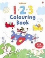Usborne Publishing 123 Colouring Book with Stcikers - LAMB, S. cena od 120 Kč
