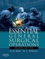 Elsevier Ltd Essential General Surgical Operations - Kirk, R.M., Winslet,... cena od 1702 Kč