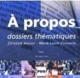 PUG A PROPOS B1-B2 CD AUDIO - ANDANT, Ch., CHALARON, M., L. cena od 665 Kč