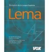 Comercial Grupo ANAYA LEMA DICCIONARIO DE LA LENGUA ESPANOLA cena od 0 Kč